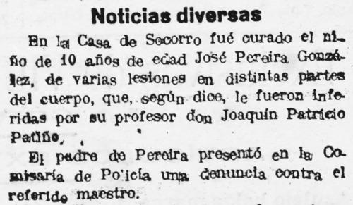 Periódico Acción coruñesa, noviembre 1920