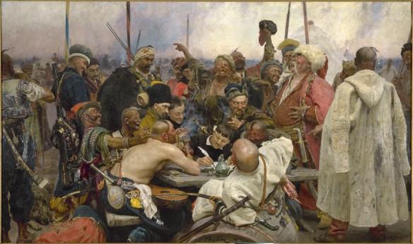 Cosacos zaporogos escribiendo una carta al Sultán - Ilya Repin
