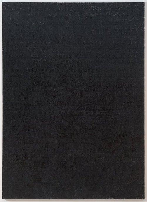 Glenn Ligon, White #13, 1994. Via
