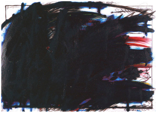 Arnulf Rainer, Dark Wave / Dream, n. d. Via Cave to Canvas