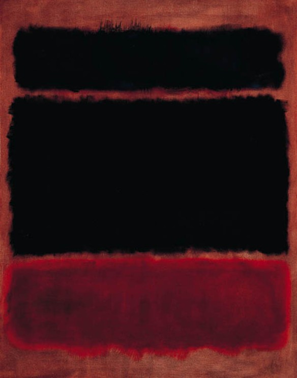 Mark Rothko - Black in Deep Red (1957). Via Artpedia