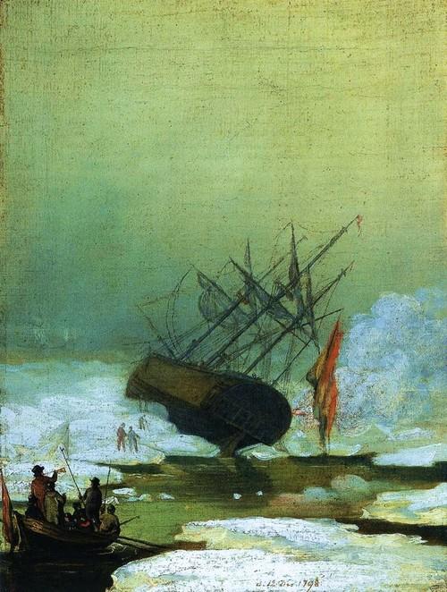 Wreck in the Sea of Ice - Caspar David Friederich, 1798. Via Antique Memes