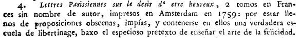 Fragmento de Carta de los inquisidores de Galicia mandando expurgar y prohibiendo algunos libros y papeles (1805)