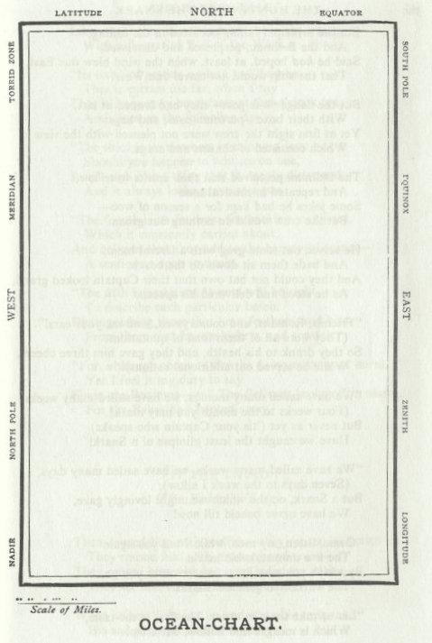 """Carta naútica de Lewis Carolls en """"La caza del Snark"""". Via Vandoll"""