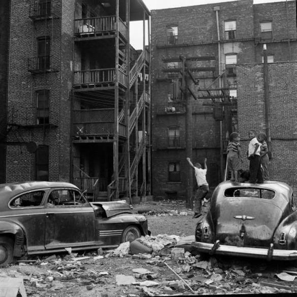 Chicago , 1954. Fotografía de Fritz Goro. Via