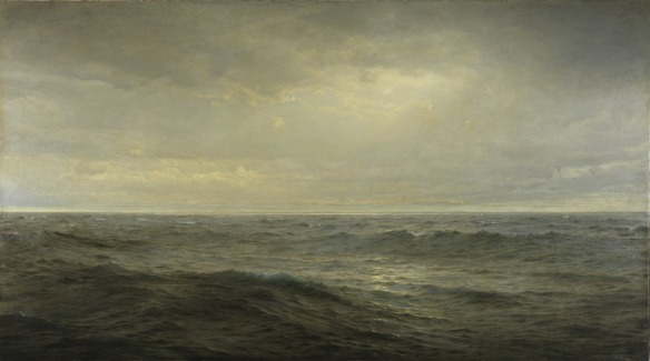 Old Ocean's Gray and Melancholy Waste | William Trost Richards (1833-1905) | 1885 Via