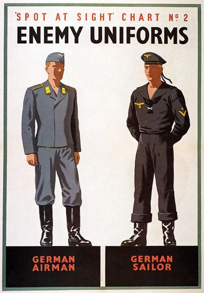 Cartel británico de la II Guerra Mundial. Via History in posters