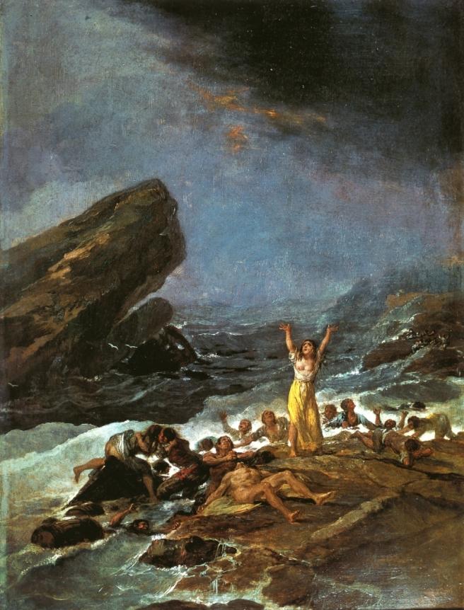El Naufragio (1794) - Francisco de Goya. Via