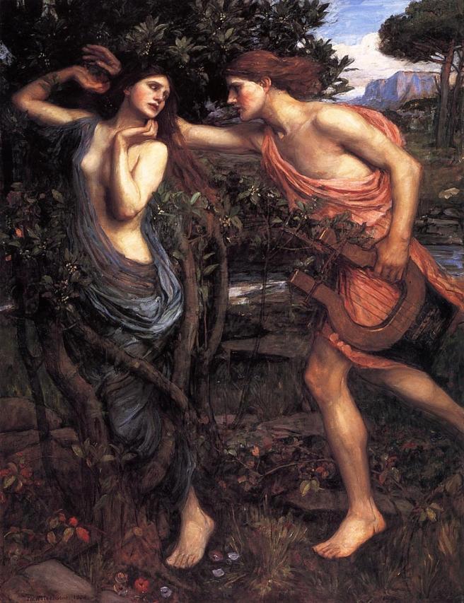John William Waterhouse, Apollo and Daphne, 1908. Via