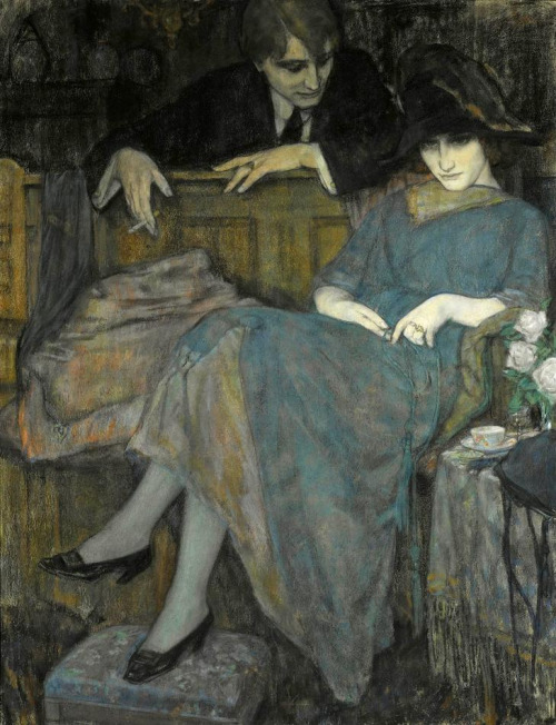 Leo Gestel, The Flirtation, 1910. Via