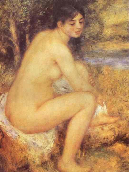Seated Girl, 1883 - Pierre-Auguste Renoir Via