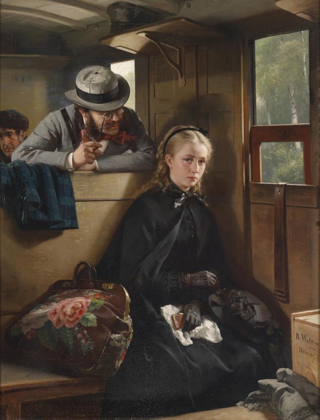 The Irritating Gentleman -Berthold Woltze. 1874. Via