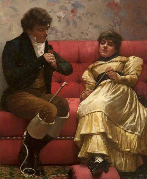A Conquest, a Heart for a Rose by John Lavery,  (1882) Via
