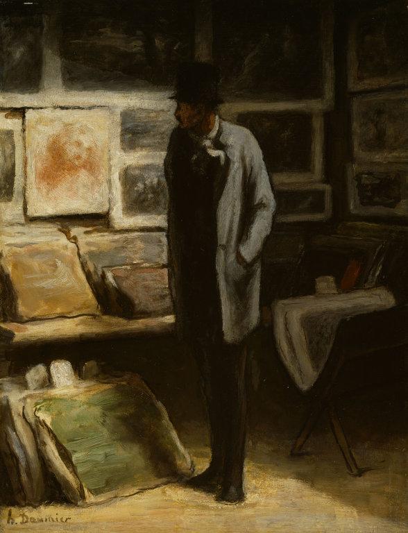 The Print Collector, c. 1857–1863 - Honoré Daumier. Via