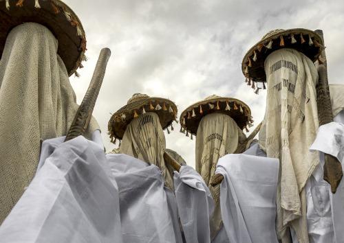 Messengers of god for the King of Yafin in Nigeria, Porto Novo, Benin. Via