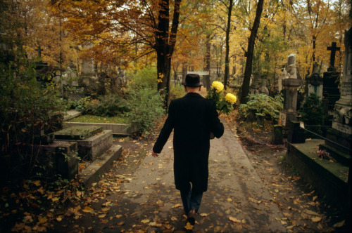 Mazovia region. City of Warsaw. Powazki cemetary, since the end of the 18th century. Photo by Bruno Barbey. Via