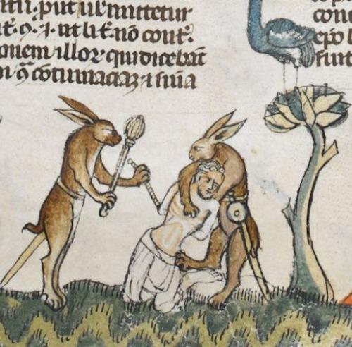 Weird Medieval Marginalia (Manuscript Art). Via