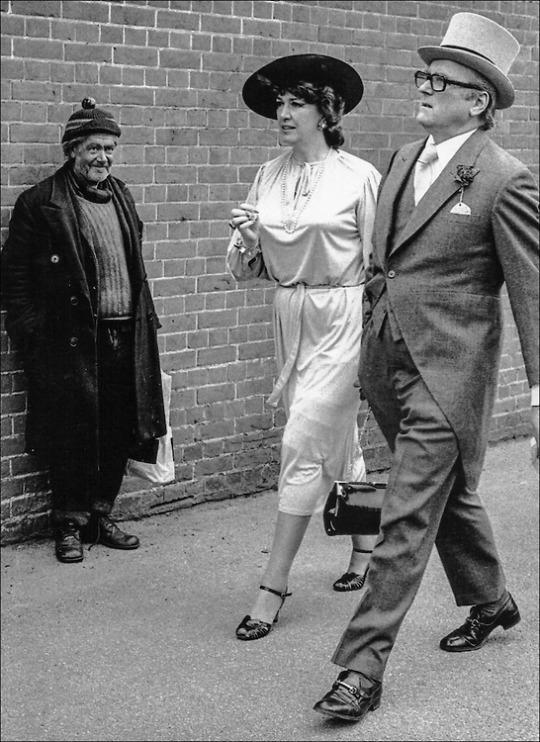 The entrance to Ascot on Ladies Day, 1981 - John Sturrock. Via
