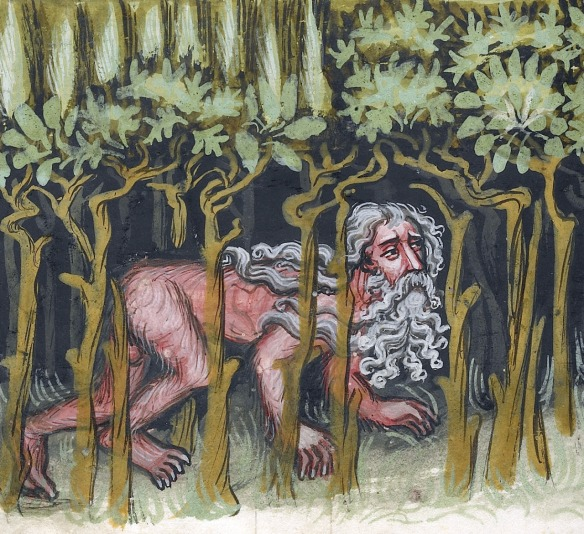 Nebuchadnezzar as a Wild Animal; Unknown; Regensburg, Bavaria, Germany; about 1400 - 1410.  Via