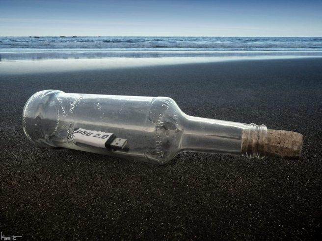"""Kaslito, """"Message in a bottle 2.0"""", (2012). Via"""