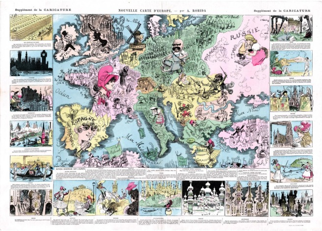 French comical map of Europe, 1880. Via Maps on the web