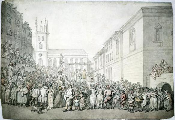 A public execution at Newgate - Thomas Rowlandson