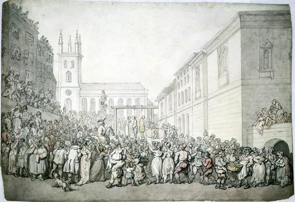 A public execution at Newgate - Thomas Rowlandson
