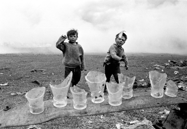 Fergus Bourke. The Bottle Throwers. 1968