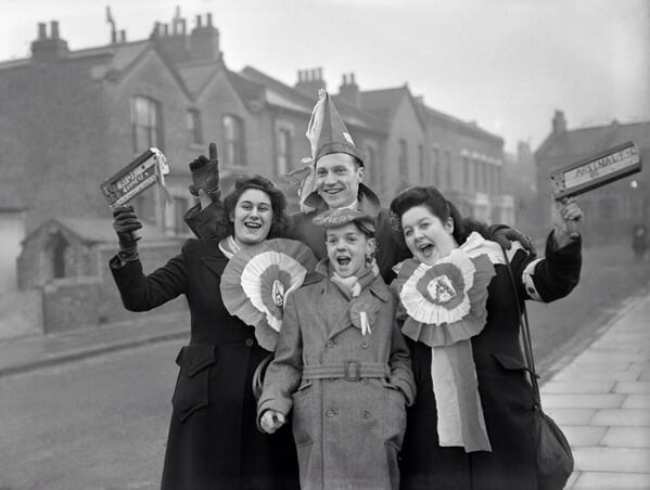 Arsenal FC supporters 1949